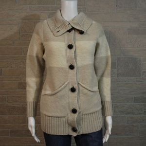 Banana Republic Tan Merino Wool Cardigan Sweater